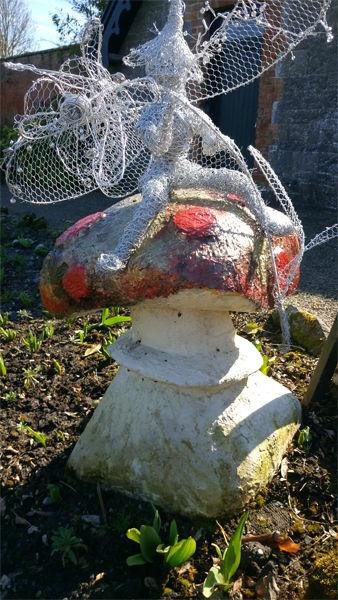 Rosie fairy on a mushroom